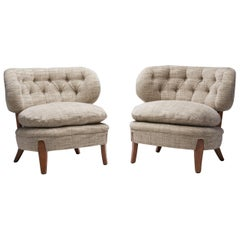 """Pair of """"Schulz"""" Lounge Chairs by Otto Schulz, Sweden, 1960s"""