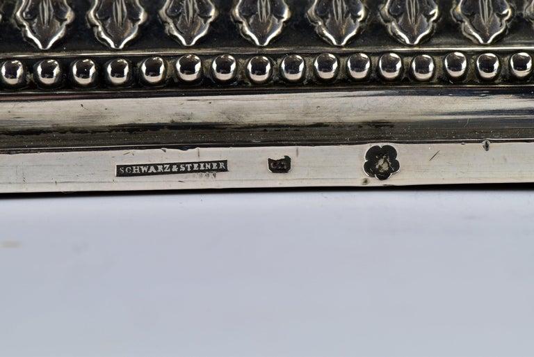 Pair of Schwarz and Steiner Vienna, Austria .800 Silver Candlesticks For Sale 5