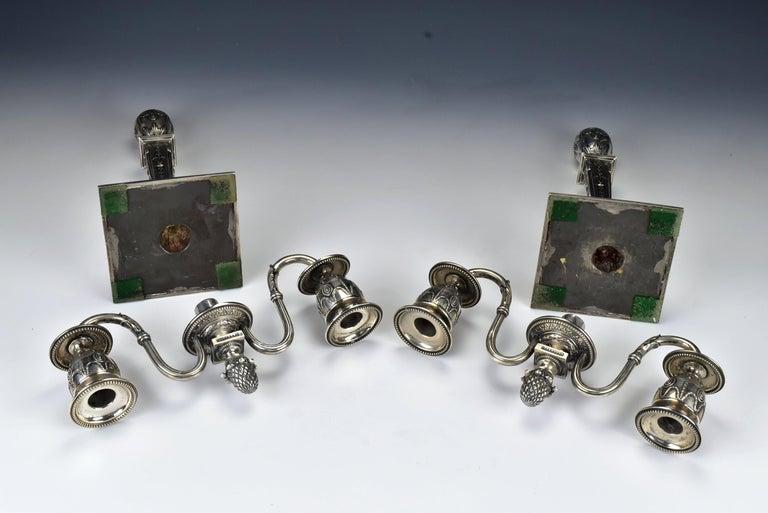 Pair of Schwarz and Steiner Vienna, Austria .800 Silver Candlesticks For Sale 2