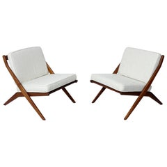 Pair of Scissor Chairs by Folke Ohlsson for Dux