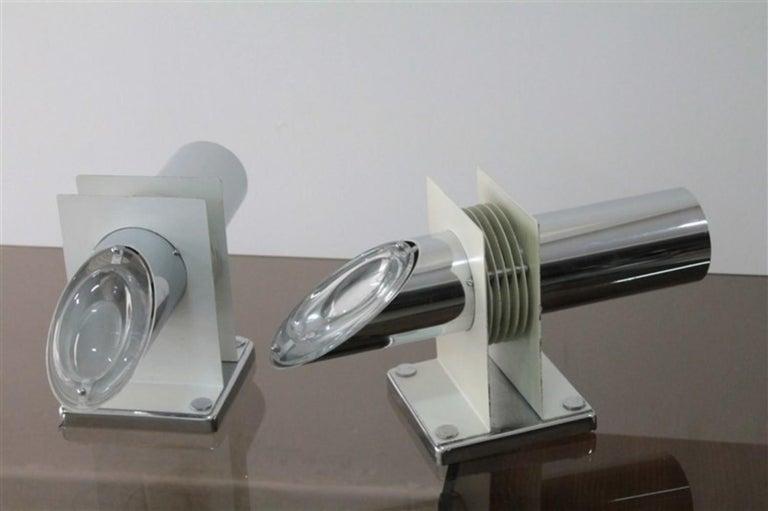 Steel Pair of Sconces 1970s Stilkronen Design Oscar Torlasco For Sale