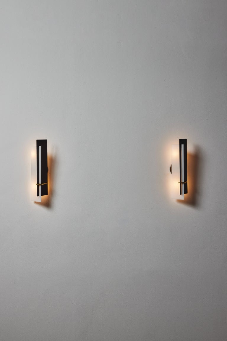 Mid-Century Modern Pair of Sconces by Angelo Brotto for Esperia For Sale