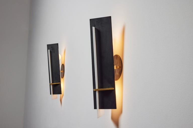 Pair of Sconces by Angelo Brotto for Esperia In Good Condition For Sale In Los Angeles, CA