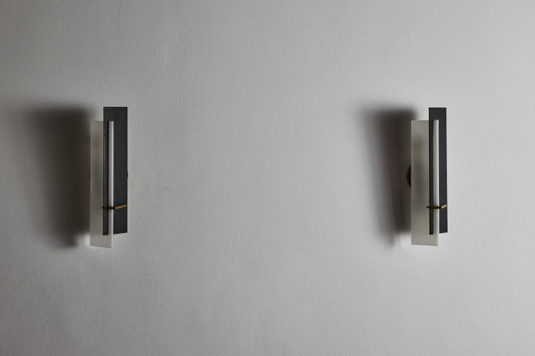 Mid-20th Century Pair of Sconces by Angelo Brotto for Esperia For Sale