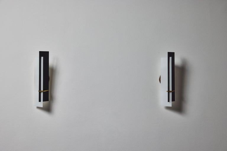 Metal Pair of Sconces by Angelo Brotto for Esperia For Sale