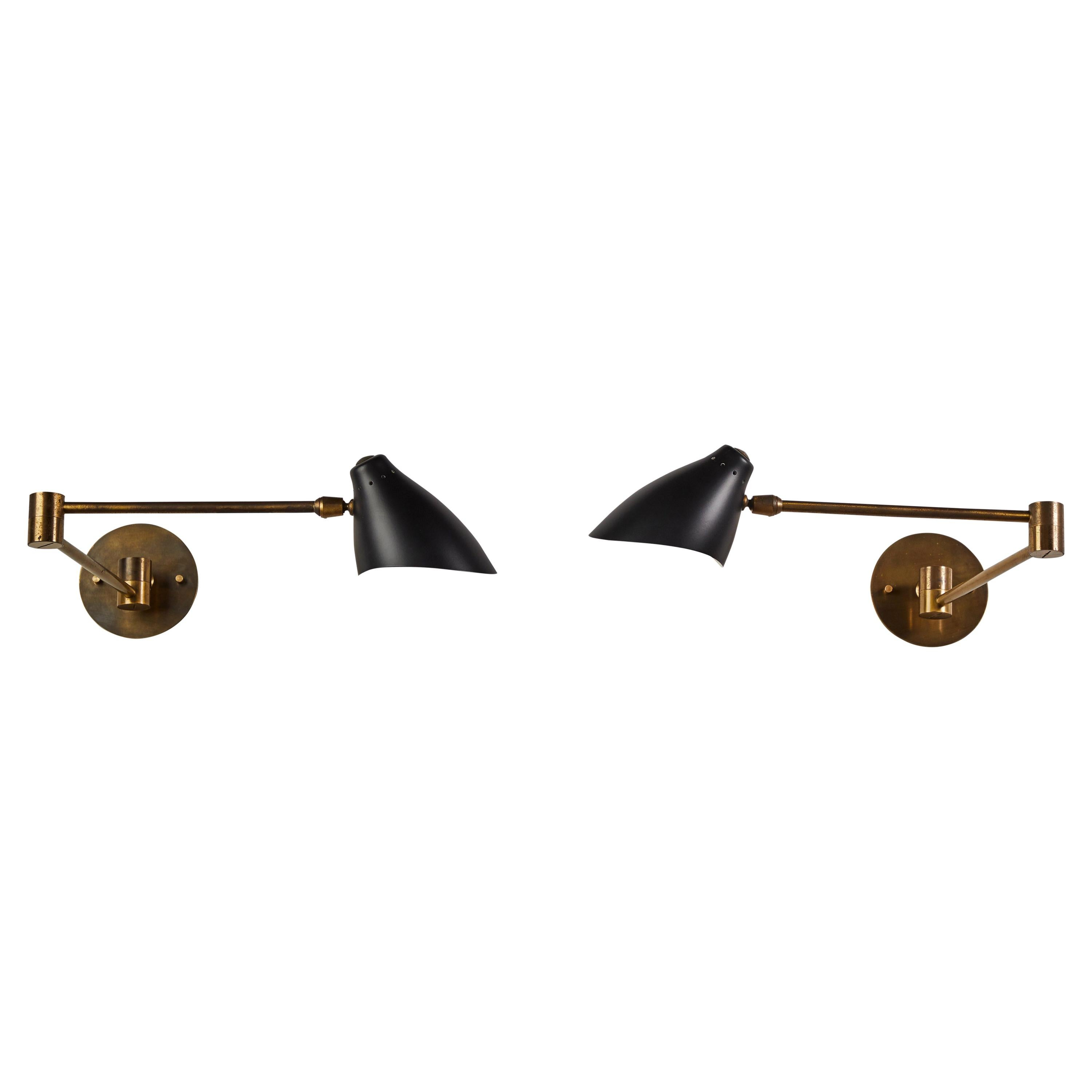 Pair of Sconces by Angelo Lelli for Arredoluce