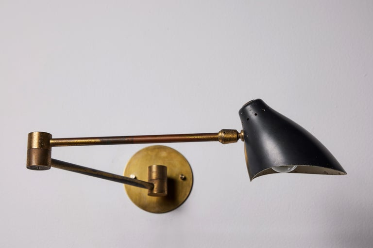 Mid-20th Century Pair of Sconces by Angelo Lelli For Sale