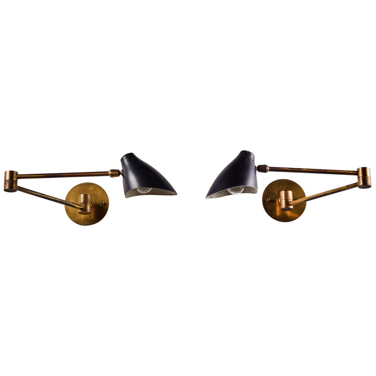 Pair of Sconces by Angelo Lelli For Sale