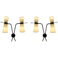 Pair of Adjustable  Sconces by Arlus, 1950-1960