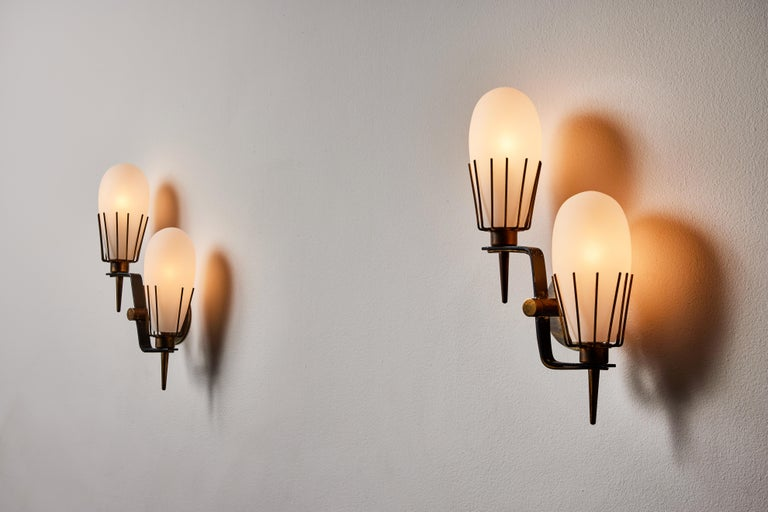 Pair of Sconces by Arredoluce In Good Condition In Los Angeles, CA