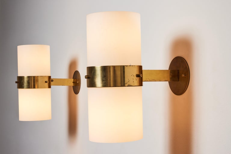 Brass Pair of Sconces by Candle