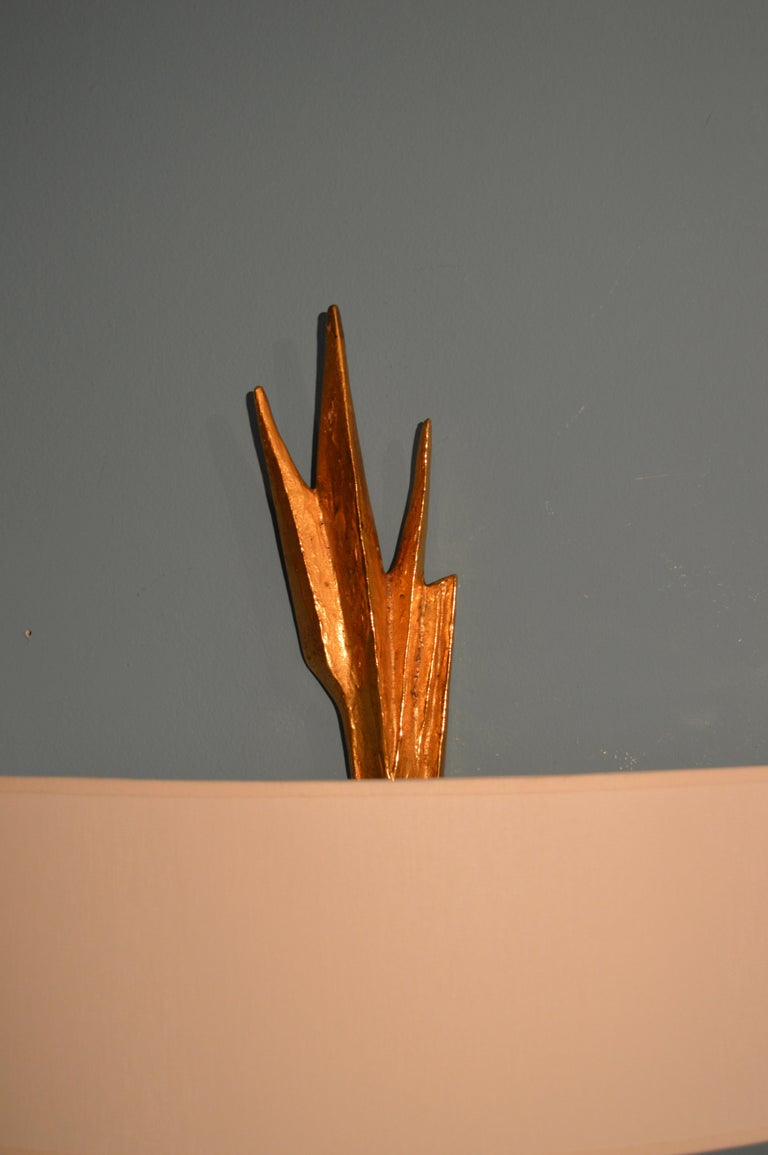 Mid-Century Modern Pair of sconces by Félix Agostini For Sale