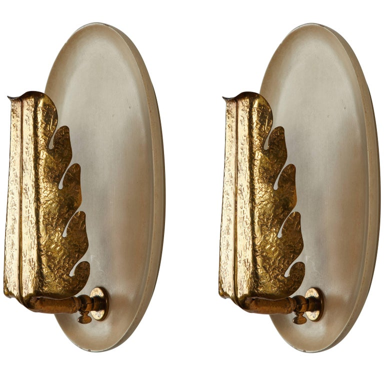 Pair of Sconces by Giuseppe Ostuni for Oluce For Sale