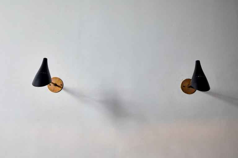 Italian Pair of Sconces by Lumen For Sale