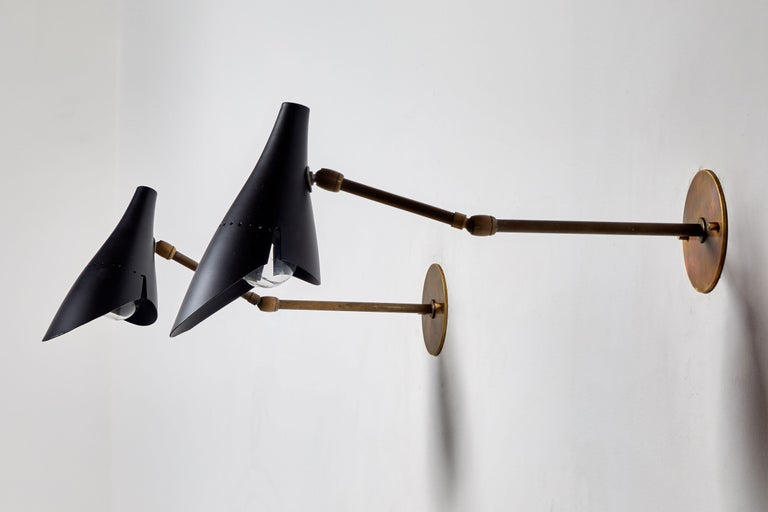 Pair of Sconces by Lumen In Good Condition For Sale In Los Angeles, CA