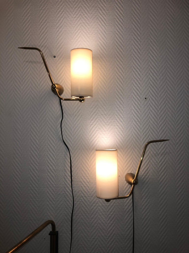 Pair of Sconces by Maison Arlus, 1950 For Sale 4