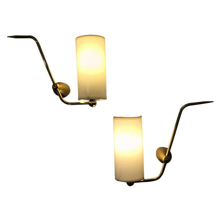 Pair of Sconces by Maison Arlus, 1950 For Sale