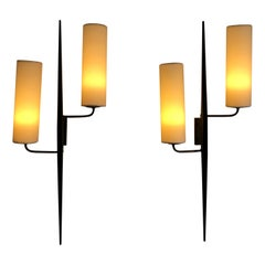Pair of Sconces by Maison Lunel, 1950