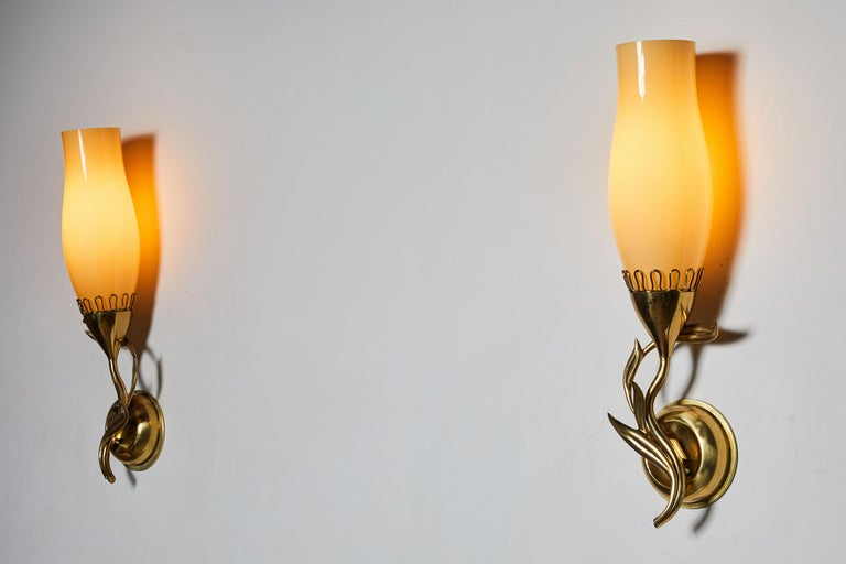 Mid-Century Modern Pair of Sconces by Paavo Tynell for Idman Oy For Sale