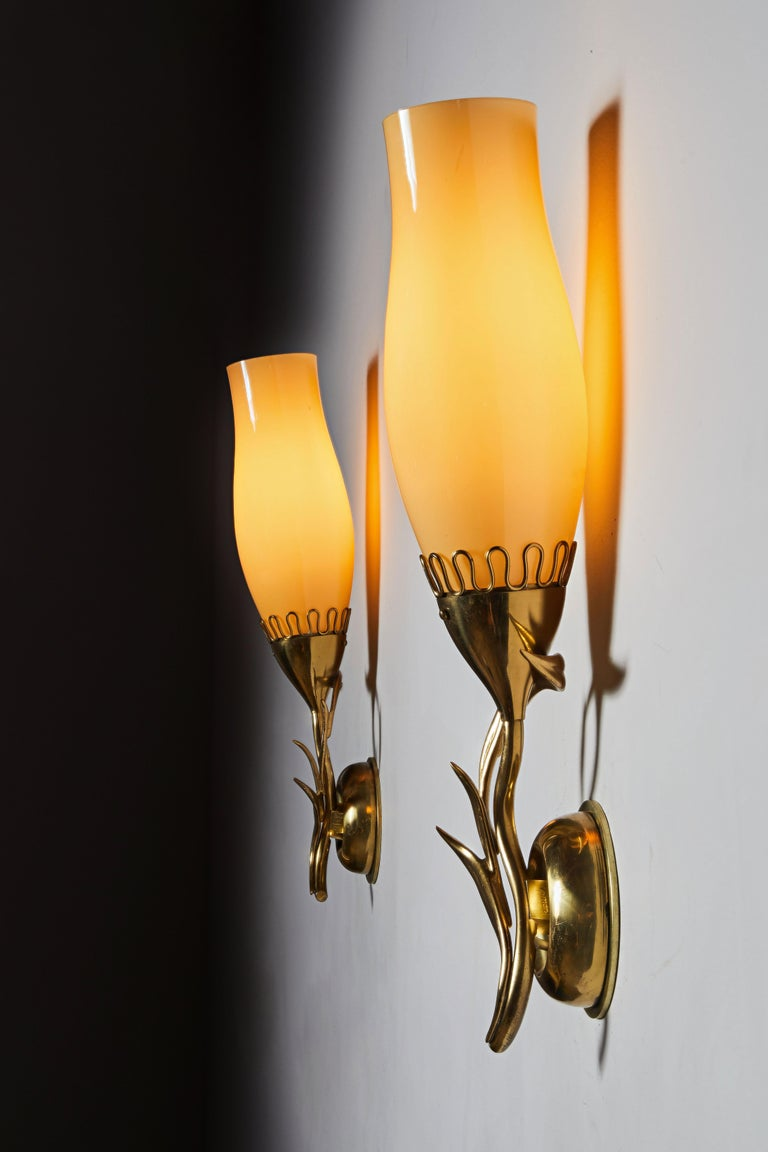 Finnish Pair of Sconces by Paavo Tynell for Idman Oy For Sale