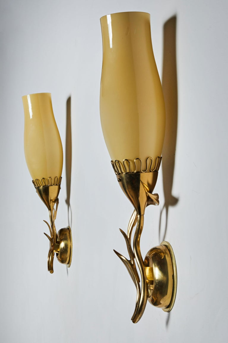 Mid-20th Century Pair of Sconces by Paavo Tynell for Idman Oy For Sale