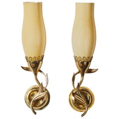 Pair of Sconces by Paavo Tynell for Idman Oy