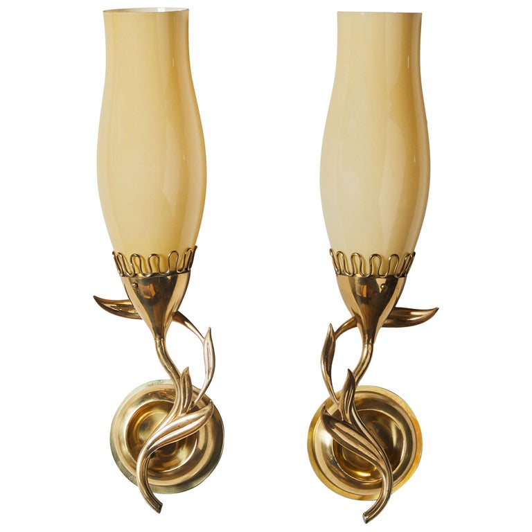 Pair of Sconces by Paavo Tynell for Idman Oy For Sale