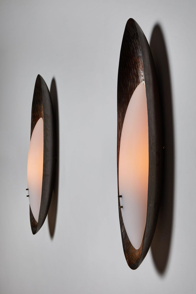 Mid-Century Modern Pair of Sconces by Reggiani For Sale