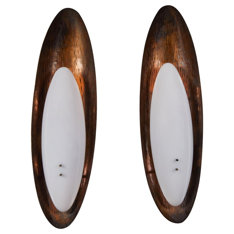 Pair of Sconces by Reggiani For Sale