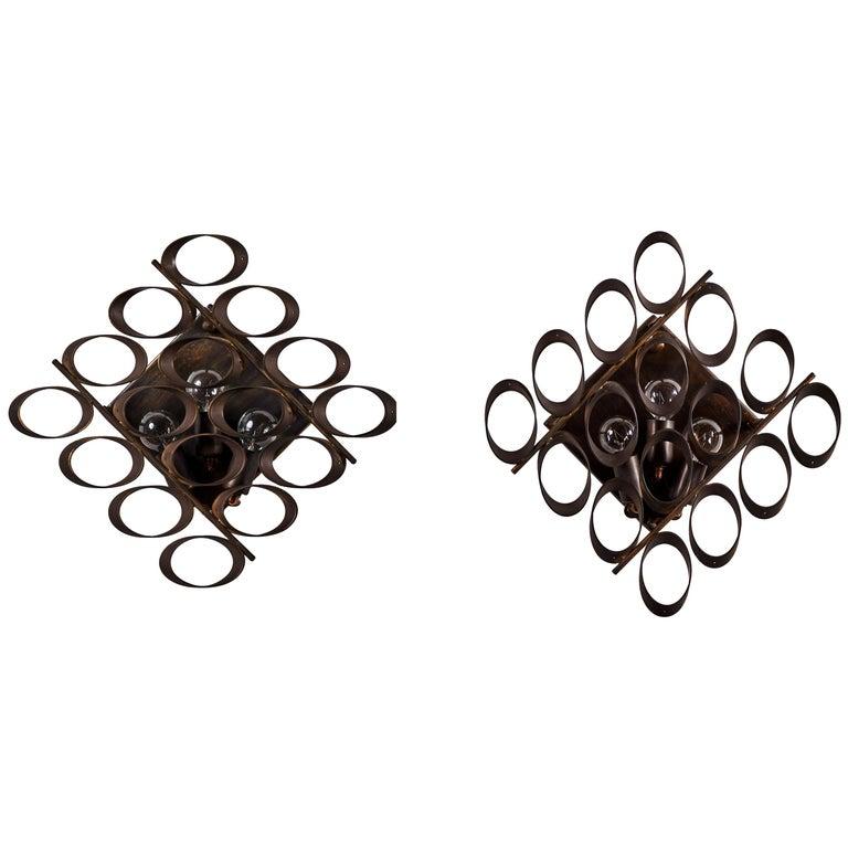Pair of Sconces by Sciolari For Sale