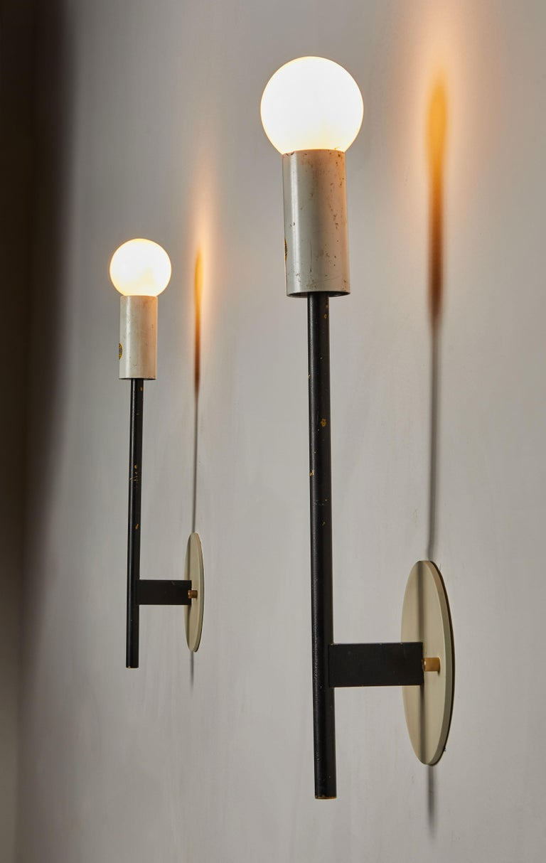Italian Pair of Sconces by Stilnovo For Sale