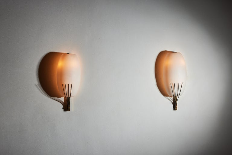 Italian Pair of Sconces by Stilnovo