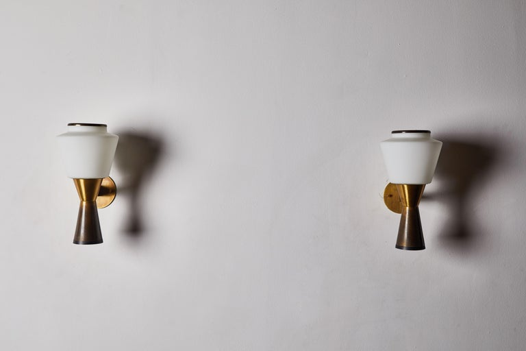 Mid-20th Century Pair of Sconces by Stilnovo For Sale