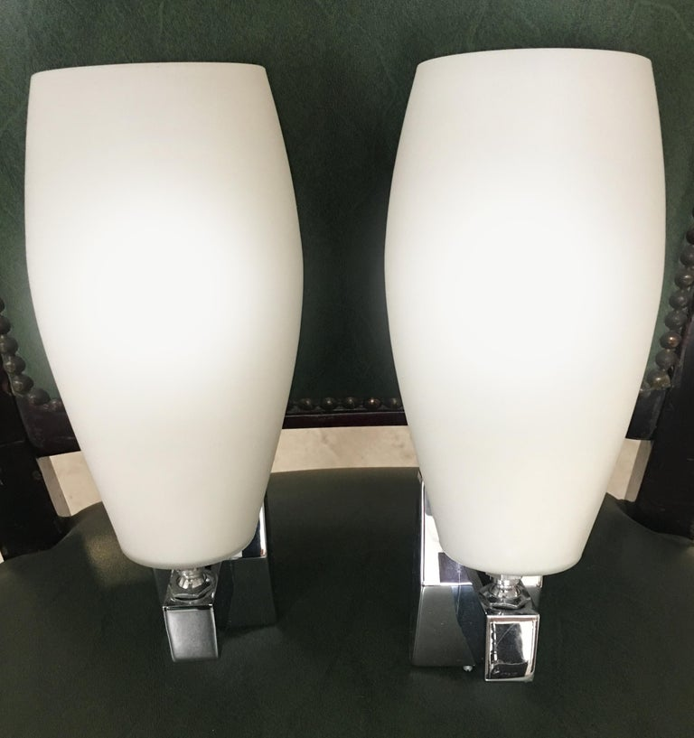 Pair of Sconces in the Style of Fontana Arte, Italy, 1970 In Excellent Condition For Sale In Budapest, HU