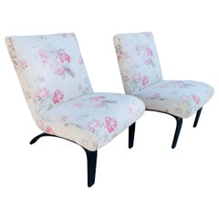 Pair of Scoop Chairs Attb to Milo Baughman