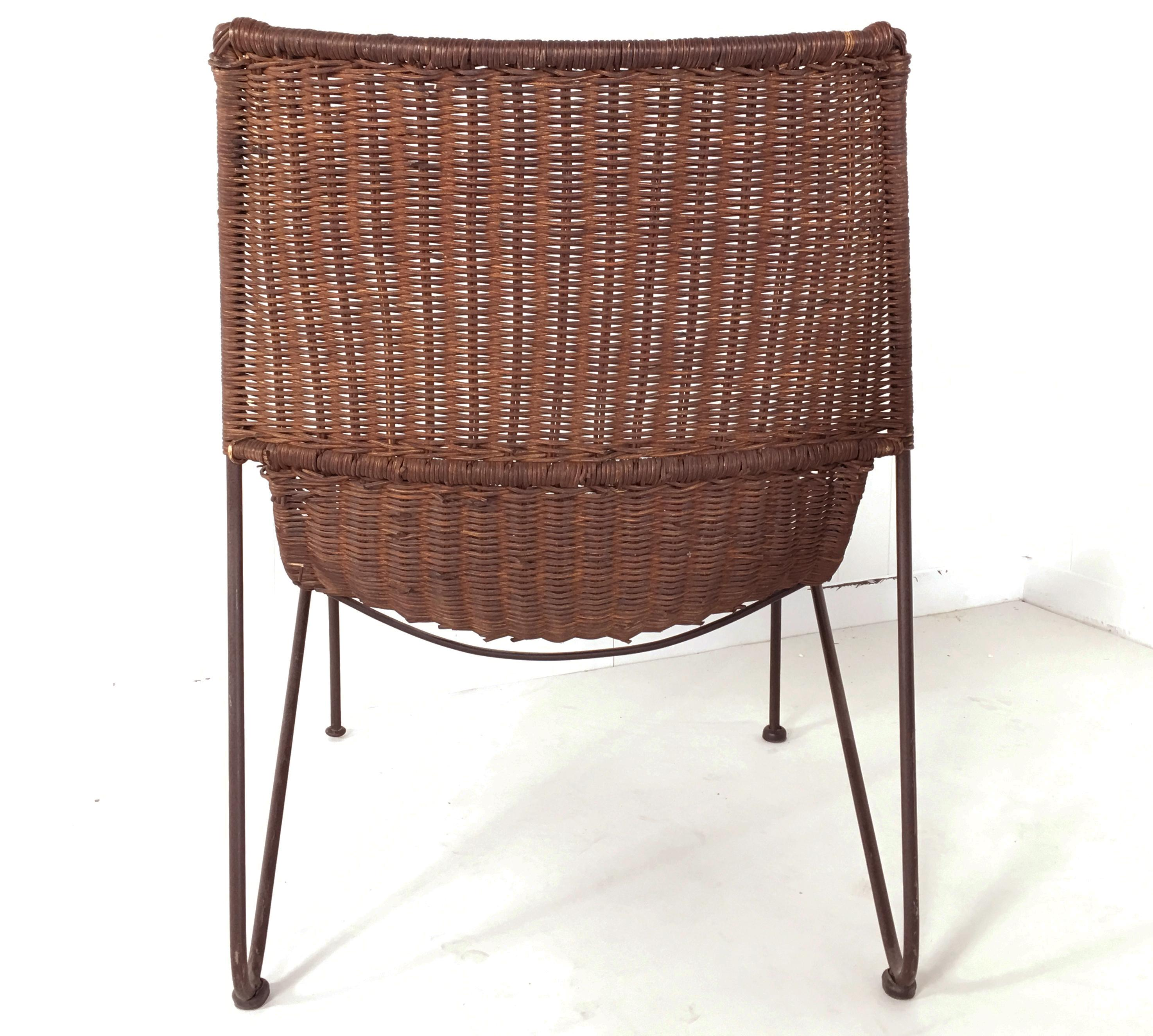 Incredible Pair Of Scoop Chairs In Wicker Rattan At 1Stdibs Uwap Interior Chair Design Uwaporg
