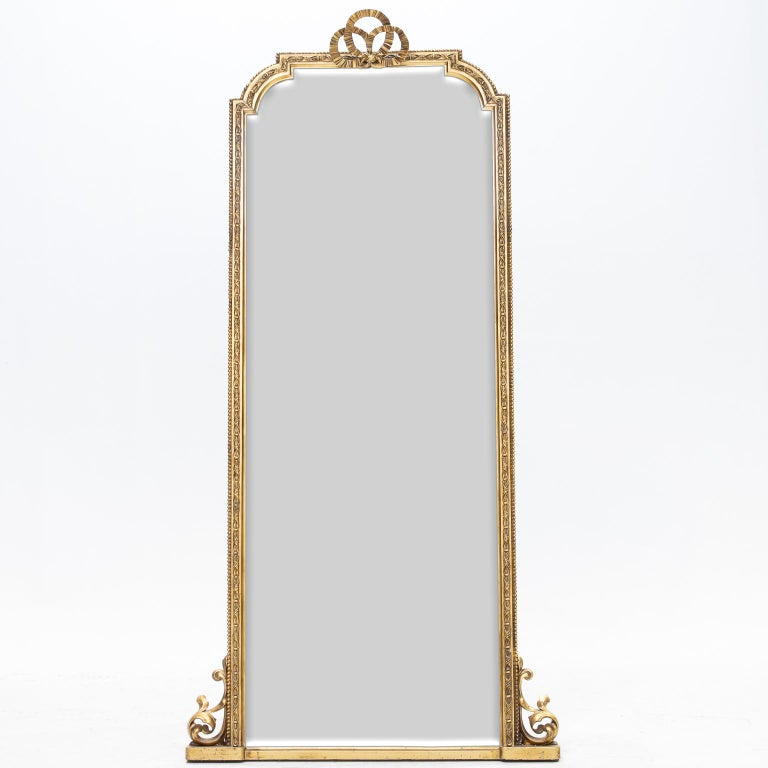Pair of Scottish Tall Mirrors For Sale 1