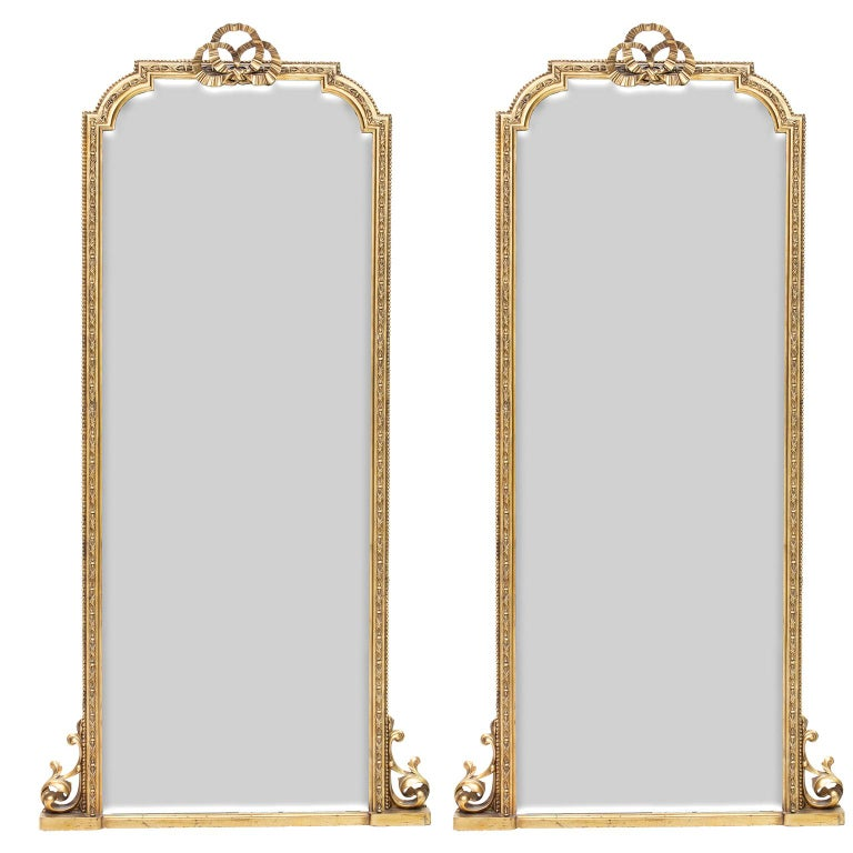 Pair of Scottish Tall Mirrors For Sale