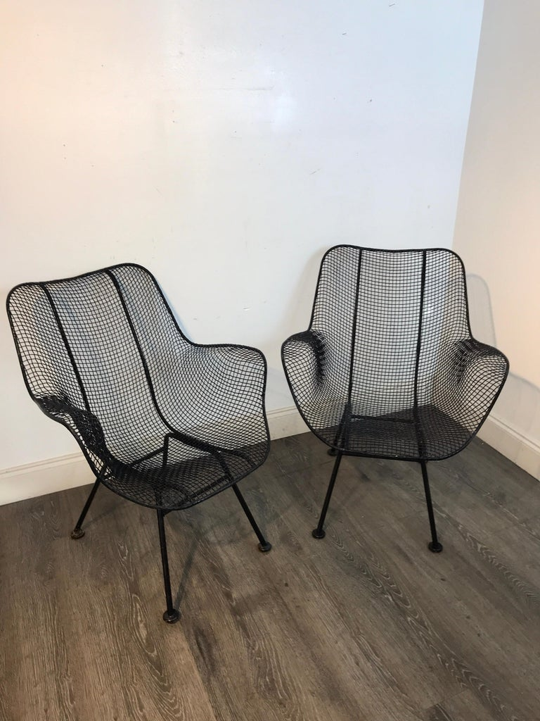 Mid-Century Modern Pair of Sculptra Garden Chairs, by Russell Woodard For Sale