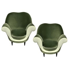 Pair of Sculptural Armchairs by Ico Parisi