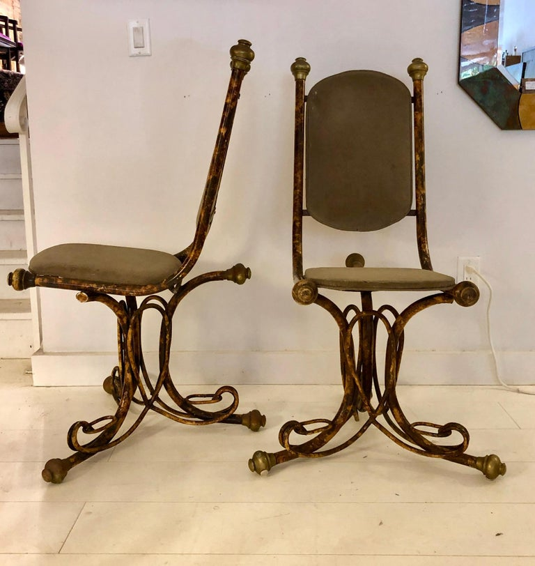 American Pair of Sculptural Arthur Court Occasional Chairs For Sale