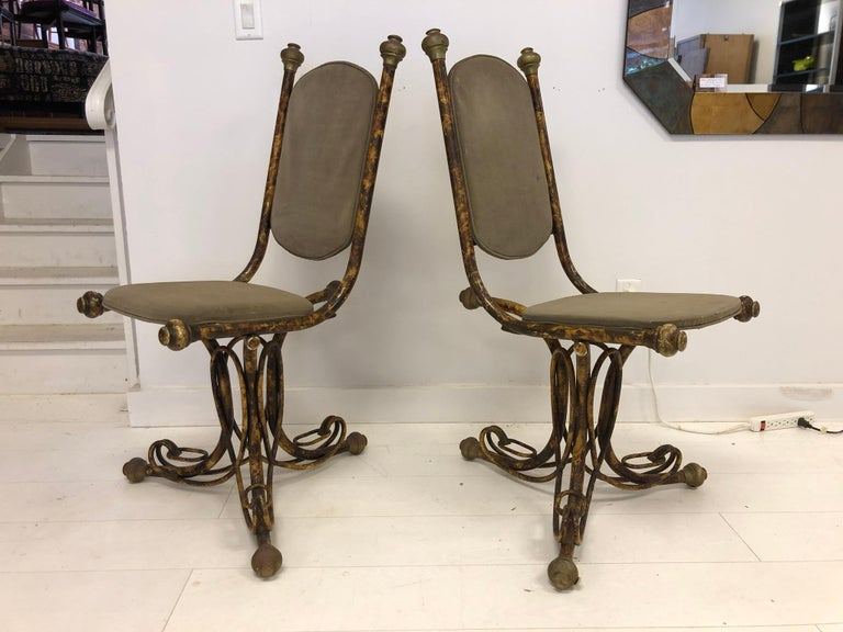 Late 20th Century Pair of Sculptural Arthur Court Occasional Chairs For Sale