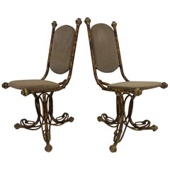 Pair of Sculptural Arthur Court Occasional Chairs