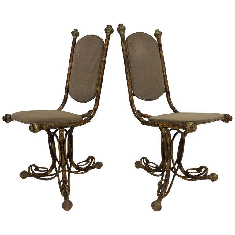 Pair of Sculptural Arthur Court Occasional Chairs For Sale