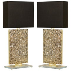 Pair of Sculptural Bronze Table Lamps