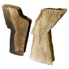 Pair of  Ceramic Sculptures / Vessels by Elma Van Leuzen 1980
