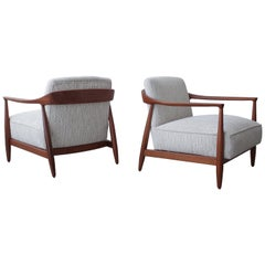 Pair of Sculptural Danish Modern Lounge Chairs by IB Kofod Larsen