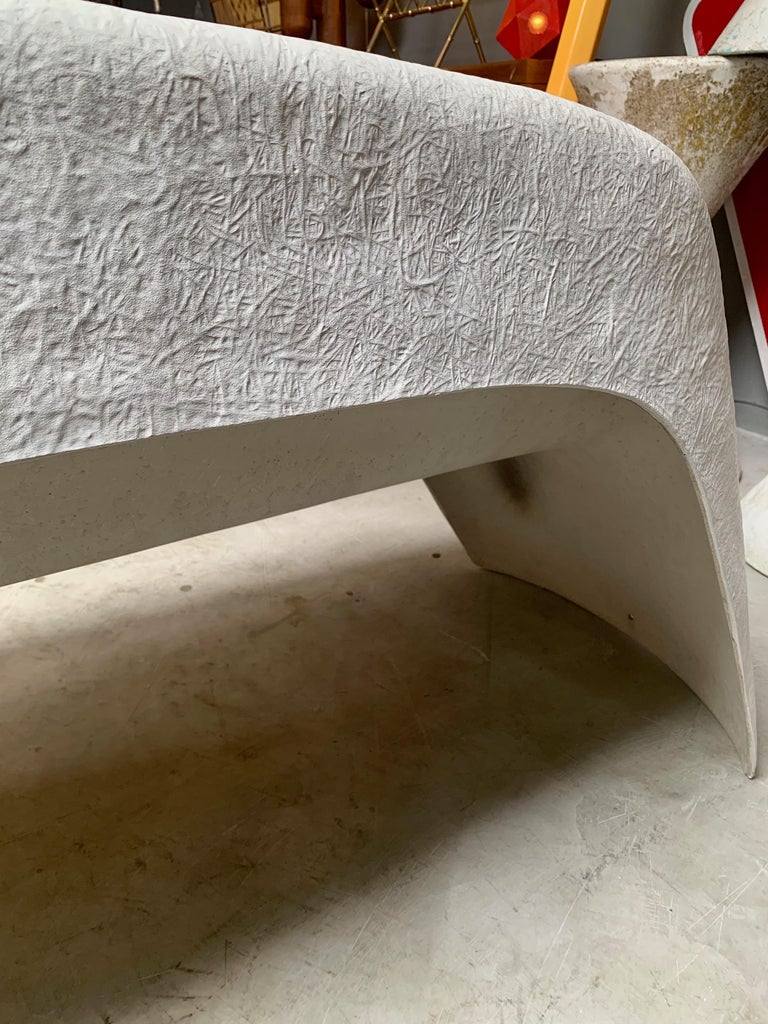Pair of Sculptural Fiberglass Outdoor Benches by Walter Papst For Sale 4