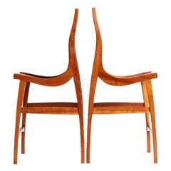 Pair of Sculptural High Chairs by Jere Osgood