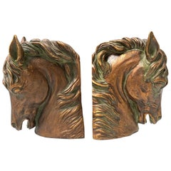 Pair of Sculptural Horse Head Bookends